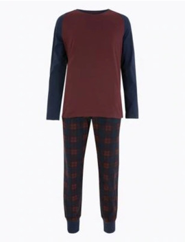 Supersoft Checked Pyjama Set by Marks & Spencer