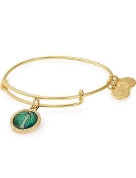 Mother Mary Color Infusion Charm Bangle Shiny Gold by Alex And Ani