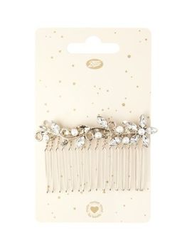 Boots Pearl Flowers Dec Hair Comb by Boots Brand Access
