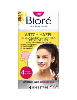 Bioré Witch Hazel Ultra Deep Cleansing Pore Strips Nose Strips For Spot Prone Skin X4 by Biore