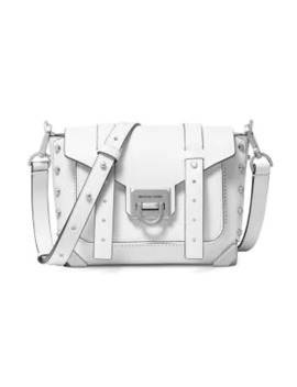Small Manhattan Leather Crossbody Bag by Michael Michael Kors