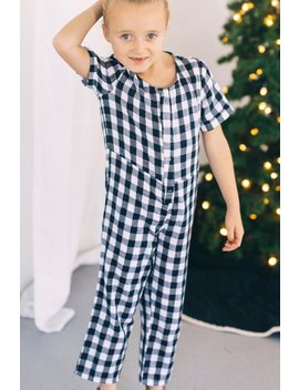 Andreason Gingham Jumpsuit by Roolee