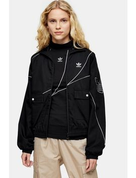 Black Track Top By Adidas by Topshop
