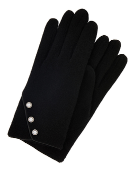 Pearl Button Wool Gloves by Accessorize