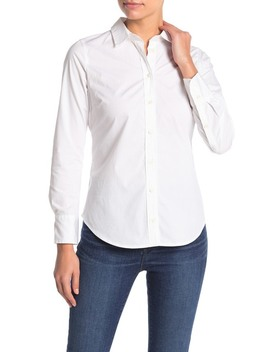 Stretch Front Button Shirt (Petite) by J. Crew
