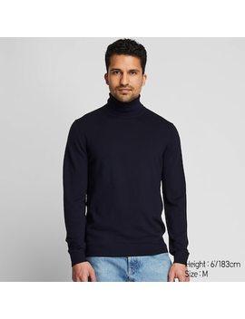 Men Extra Fine Merino Wool Turtleneck Jumper (8) by Uniqlo
