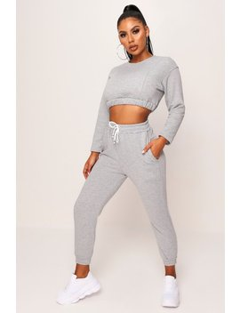Grey Tie Front Jogger by I Saw It First