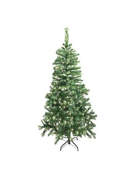 Aleko Ct78 H250 Hw Luscious Artificial Christmas Tree   6.5 Foot   With Soft White Led Lights   Simple Green Color by Aleko