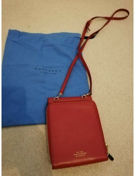 Smythson Mini Crossbody Panama Red Bag. Rrp £600 by Ebay Seller