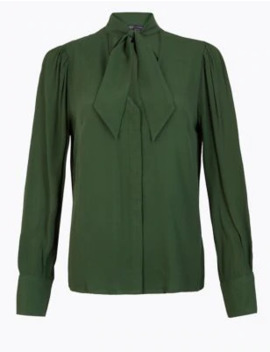 Tie Neck Shell Top by Marks & Spencer