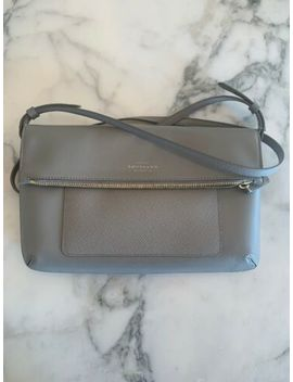 Smythson Panama Crossbody Folded Bag Leather Grey by Ebay Seller