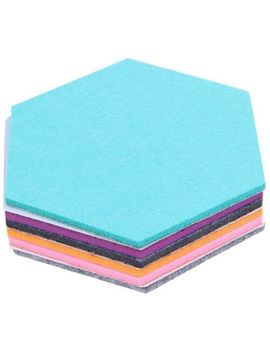 Set Of 6 Hexagon Felt Pin Board Self Adhesive Bulletin Memo Photo Cork Boar V6 W9 by Ebay Seller