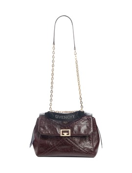 Medium Id Creased Leather Satchel by Givenchy