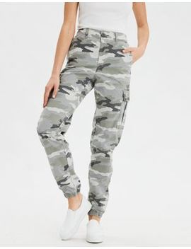 Ae Super High Waisted Cargo Camo Jogger Pant by American Eagle Outfitters