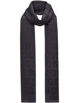 Signature Logo Scarf by Fendi
