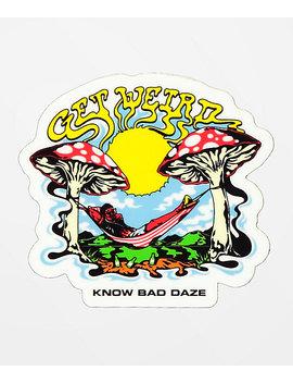 Know Bad Daze Weirdo Sticker by Know Bad Daze