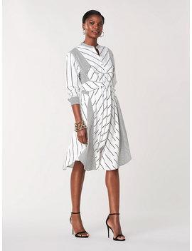 Jaylah Woven Knee Length Shirt Dress by Dvf