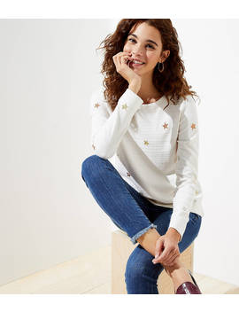 Shimmer Star Sweatshirt by Loft