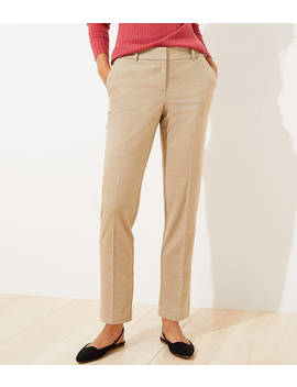 Brushed Flannel Slim Pencil Pants With Stretch Waist by Loft