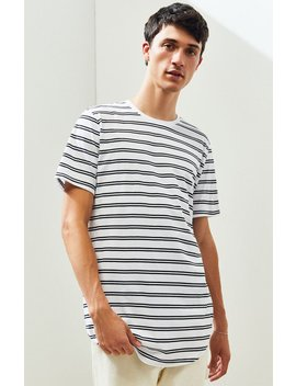 Ps Basics Ganado Striped Scallop T Shirt by Pacsun