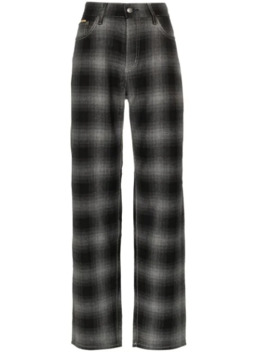 Benz Tartan High Waist Trousers by Eytys
