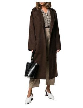 Nanushka Alamo Oversized Wool & Silk Blend Coat by Nanushka