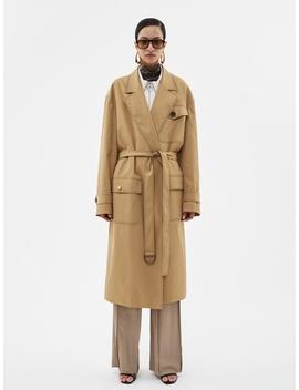 Mattis Gabardine Robe Trench Coat Awa274u Beige by Andersson Bell For Women