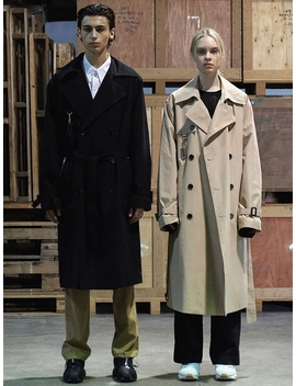 Over Long Trench Coat Beige by Trip Le Sens