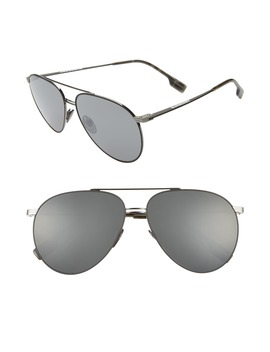 60mm Oversize Aviator Sunglasses by Burberry