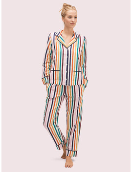 Multistripe Long Pj Set by Kate Spade