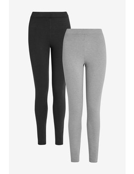 Black/Grey Truetherm™ Leggings Two Pack by Next