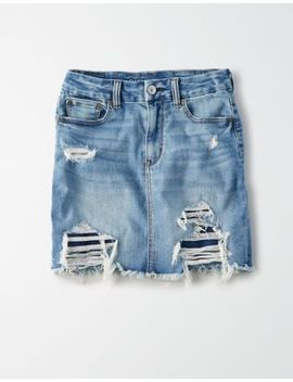 Ae Ne(X)T Level Curvy High Waisted Mini Skirt by American Eagle Outfitters