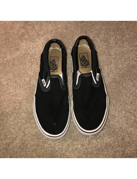 Size 6 Slip On Vans!! These Have Been Worn A Lot by Depop