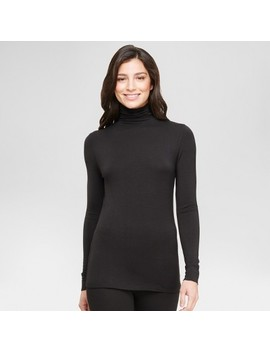 Warm Essentials® By Cuddl Duds® Women's Smooth Stretch Thermal Long Sleeve Turtle Neck Top by Warm Essentials By Cuddl Duds