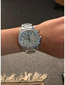 Women's Classic Silver Diamante Watch by Ebay Seller