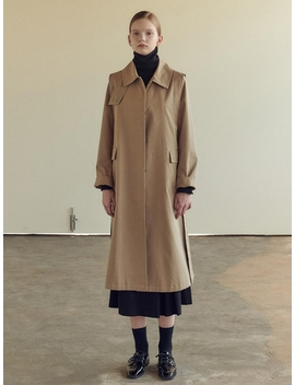Single Trench Coat Long by Nilby P