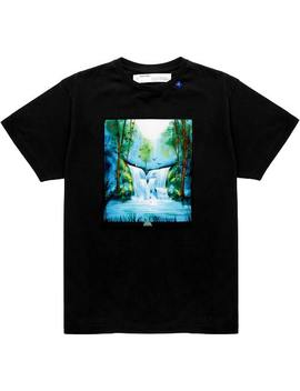 Off White Waterfall T Shirt Black/Multicolor by Stock X