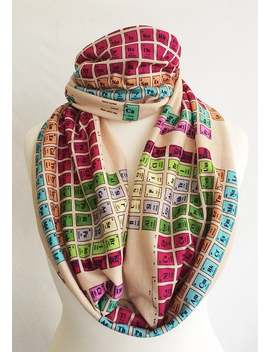Chemistry Gift, Scarf,Periodic Table Scarf, Uk ,Geek Gift, Periodic Table, Nerd Scarf By Rooby Lane by Etsy