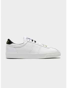 Unisex 2843 Clubs Comfleasueu Sneakers In White & Black by Superga