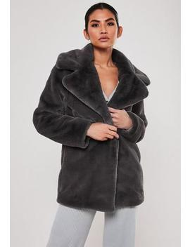 Taupe Super Soft Faux Fur Coat by Missguided