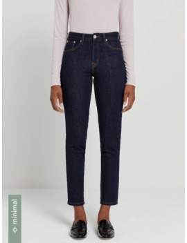 The Debbie High Waisted Skinny Jean In Navy by Frank & Oak