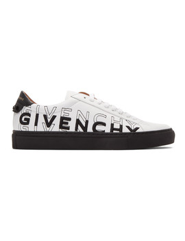 White & Black Embroidered Urban Street Sneakers by Givenchy