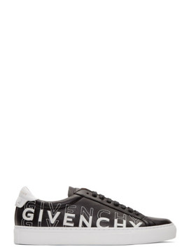 Black & White Embroidered Urban Street Sneakers by Givenchy