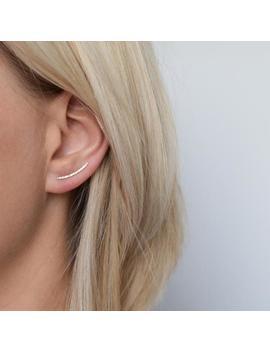 Gold Ear Climber   Ear Crawler   Ear Cuff   Solid Gold Ear Climber   Hammered Ear Climber   Hammered Earrings by Etsy
