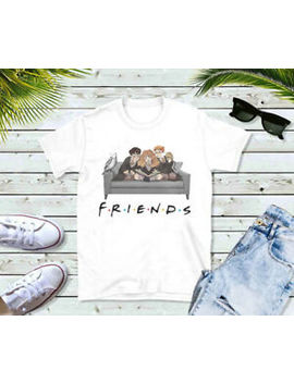 Friends Harry Potter Parody Harry Ron Hermione Gift Idea Wsn377 White T Shirt by Ebay Seller