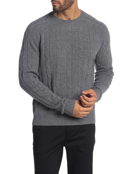 Lambswool Cable Knit Sweater by Brooks Brothers