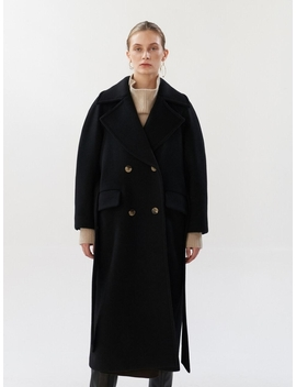 Ntw Cashmere Wide Collar Coat 2color by Mohan
