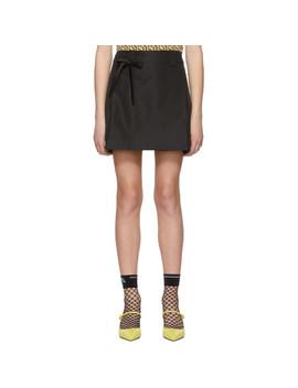 Black Portfolio Miniskirt by Prada