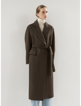 Ntw Peaked Collar Long Coat 3color by Mohan