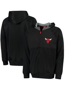 Men's Chicago Bulls Adidas Black 2016 Pre Game Full Zip Hooded Jacket by Nba Store
